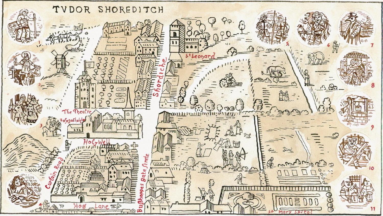 Adam Dant S Map Of Shoreditch Old Amp New Spitalfields Life